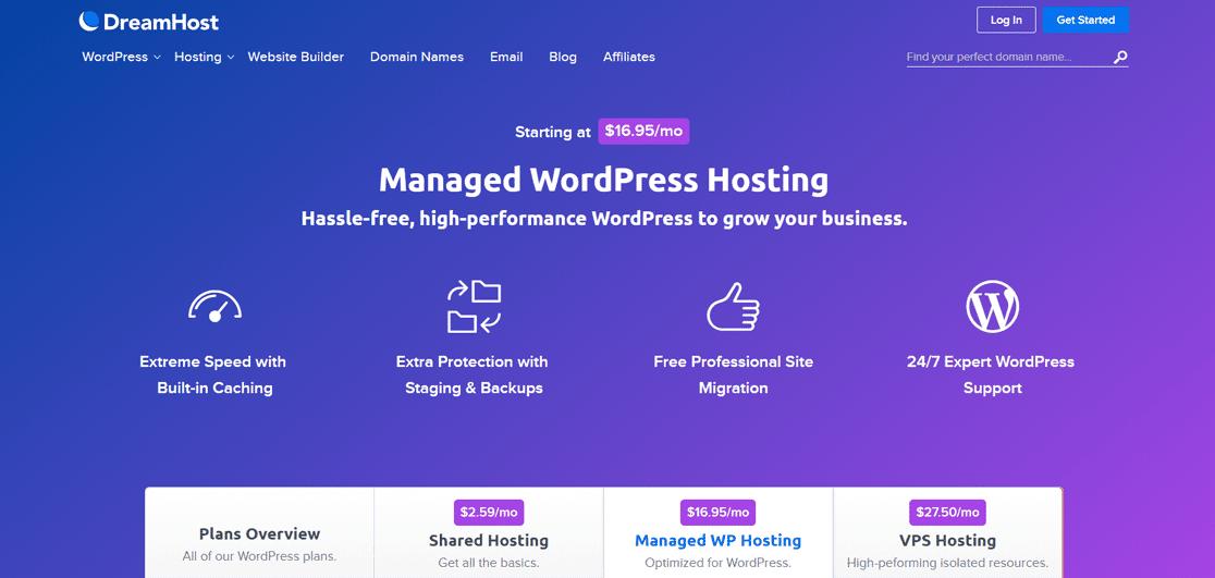 Hébergement WordPress géré par DreamPress