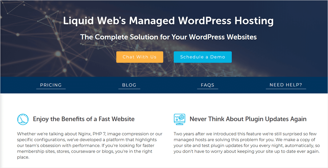 Liquid Web Web Managed Web Hosting pour WordPress