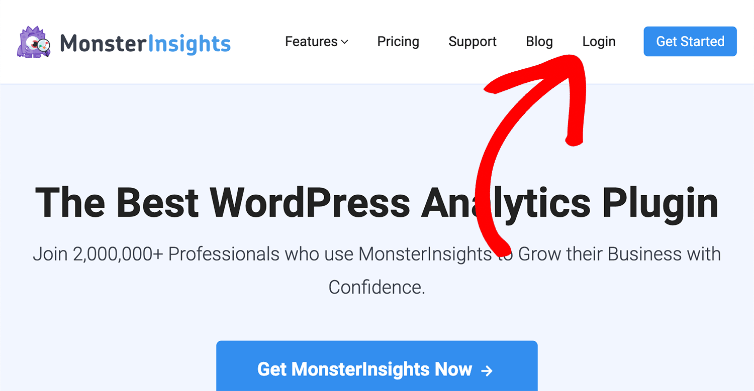 install the MonsterInsights plugin on your website