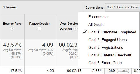 "select-a-goal-in-conversions-menu ""width ="" 491 ""height ="" 261 ""srcset ="" https://www.monsterinsights.com/wp-content/uploads/2019/08/select-a-goal -in-conversions-menu.jpg 491w, https://www.monsterinsights.com/wp-content/uploads/2019/08/select-a-gogo-in-conversions-menu-300x159.jpg 300w ""tailles ="" (largeur maximale: 491px) 100vw, 491px ""/></p><noscript><img class="
