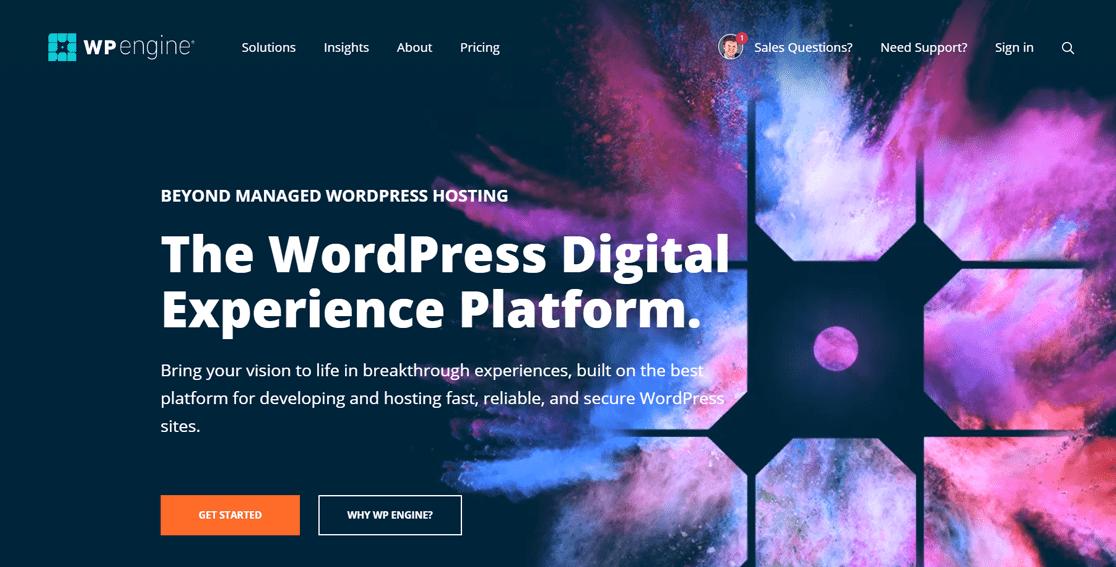 WP Engine Best Managed WordPress Hosting Company