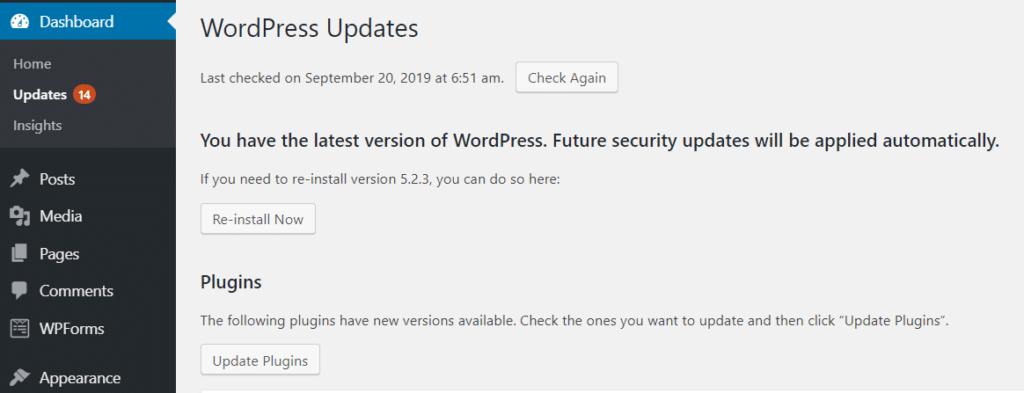 Wordpress-update-for-security