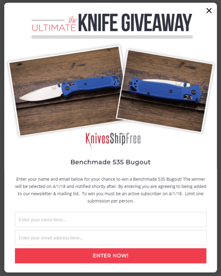 knives giveaway lightbox