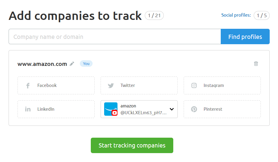 start tracking companies