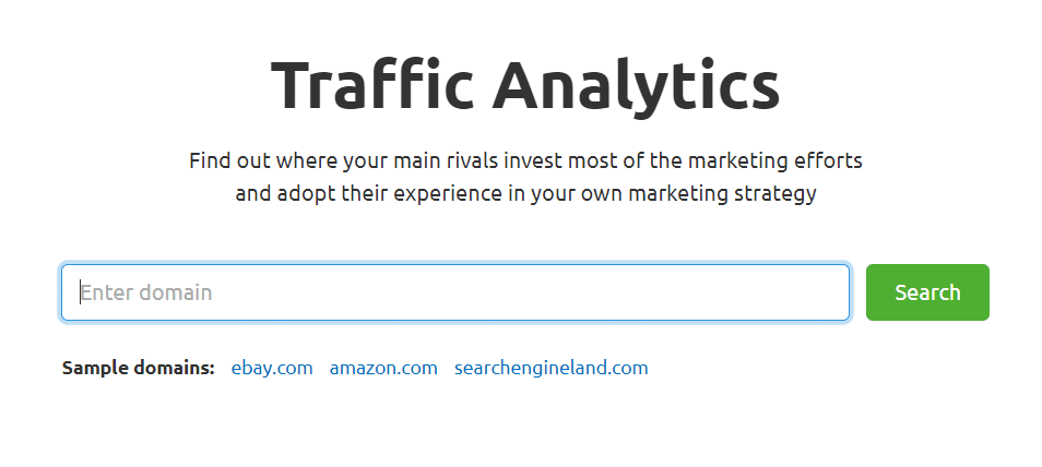 enter a url in traffic analytics report