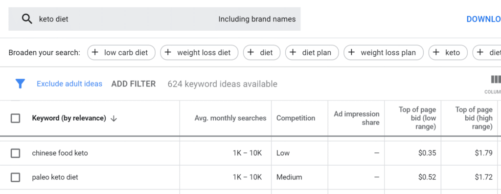 google-keyword-planner-long-tail-keyword