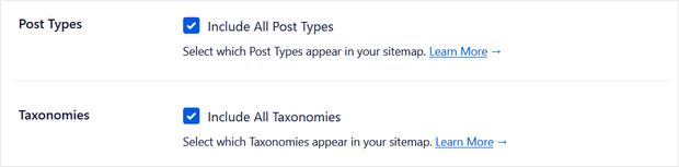 post types and taxonomies
