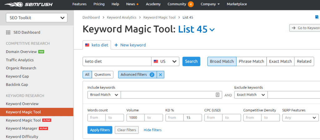 SEMrush-long-tail-keywords-tool