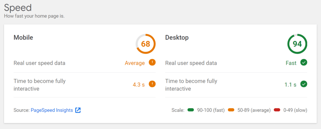 speed-report-google-site-kit