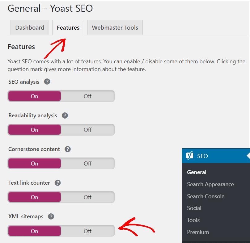 "switch-on-xml-sitemaps-features ""width ="" 620 ""height ="" 603 ""srcset ="" https://www.monsterinsights.com/wp-content/uploads/2019/12/switch-on-xml-sitemaps -features.png 809w, https://www.monsterinsights.com/wp-content/uploads/2019/12/switch-on-xml-sitemaps-features-300x292.png 300w, https://www.monsterinsights.com /wp-content/uploads/2019/12/switch-on-xml-sitemaps-features-768x747.png 768w ""tailles ="" (largeur max: 620px) 100vw, 620px ""/></p></noscript><noscript><img   alt="