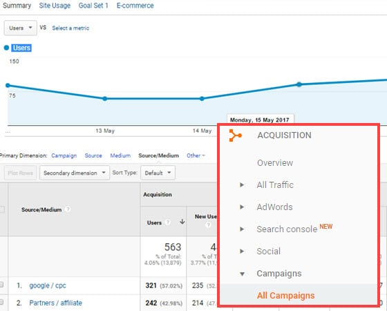 google-analytics-utm-campaigns-tracking
