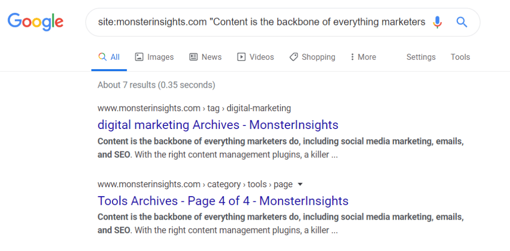 google-search-operators-site-duplicate-content