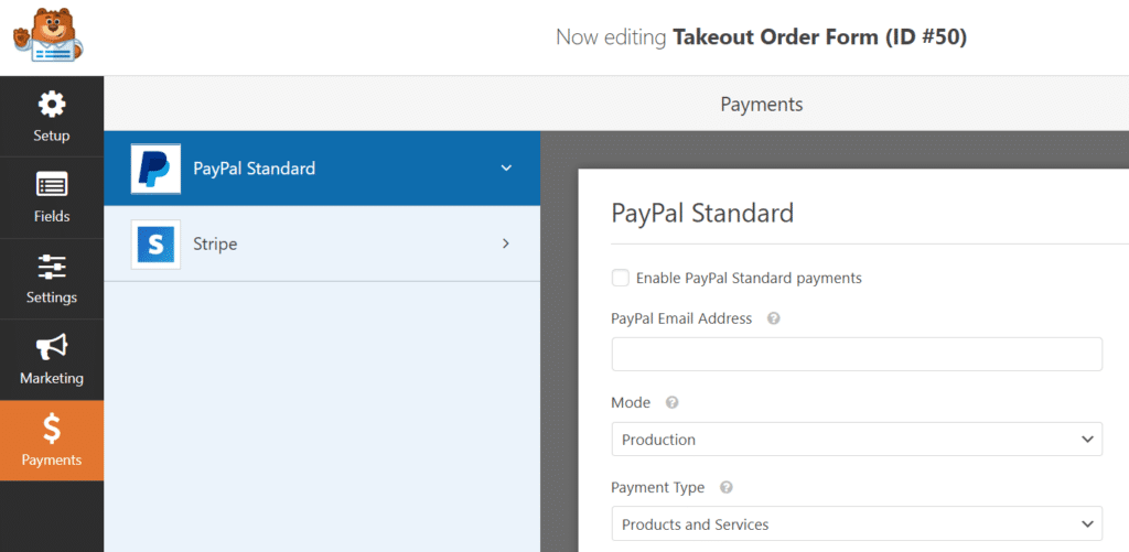 formulaire de paiement-option-en-ligne
