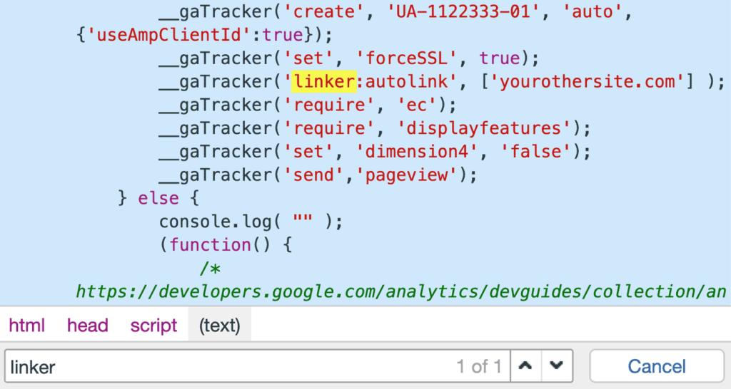 cross-domain-tracking-code