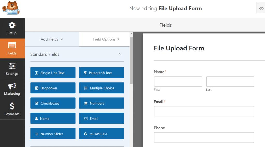 customize wordpress file upload form
