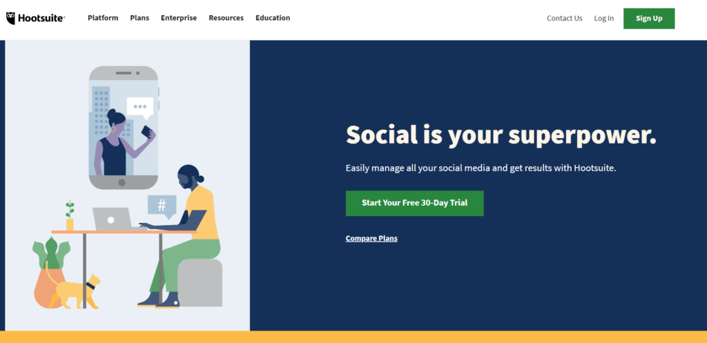 hootsuite social media analytics tool