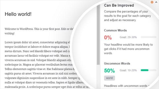 MonsterInsights headline analyzer - word balance
