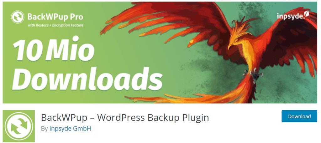 backwpup best wordpress backup plugin