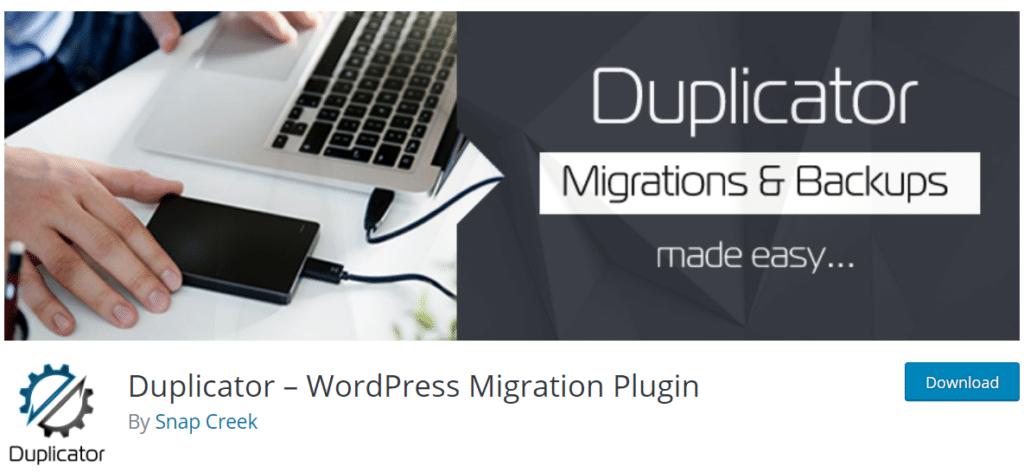 duplicator wordpress backup plugins