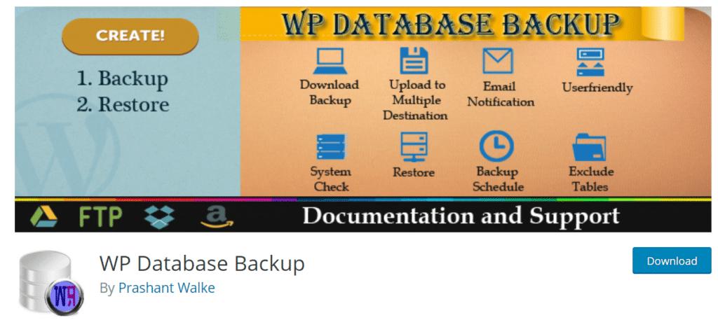 wp database backup wordpress