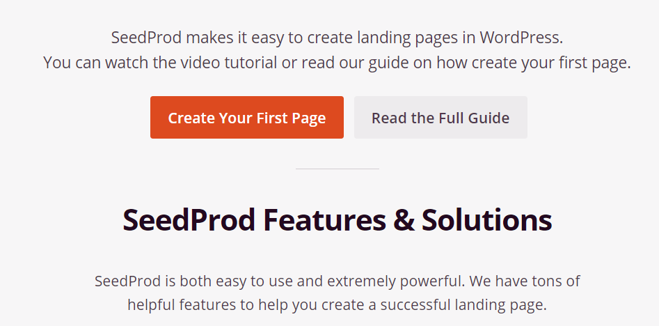 create your first page