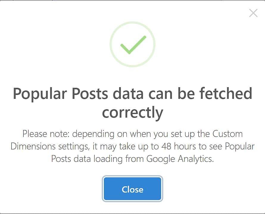 Popular Posts configuration
