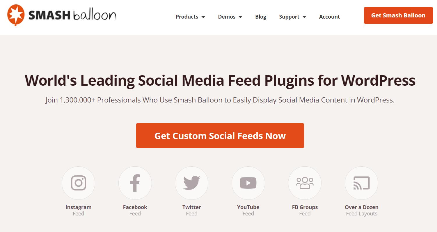 smash balloon wordpress social media feed plugin