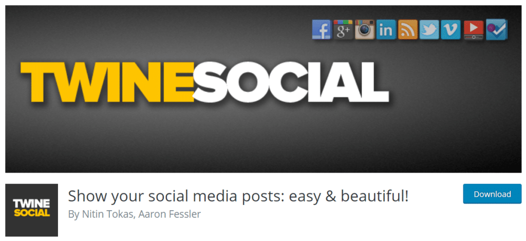 twinesocial wordpress social feed plugin