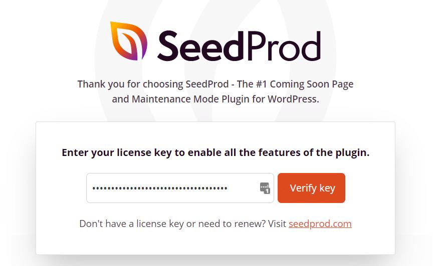 verify seedprod key