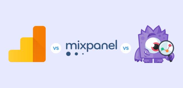 analytics vs mixpanel vs monsterinsights