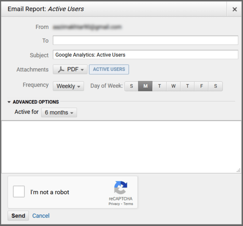 share analytics reports