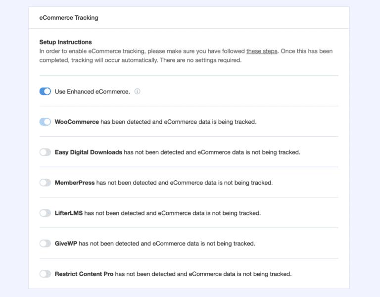 integration WordPress ecommerce monsterinsights