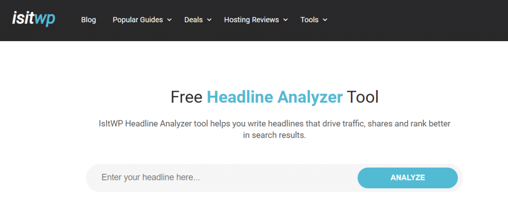 isitwp headline analyzer tool