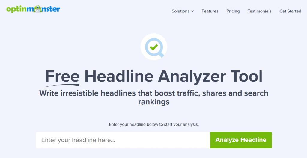 optinmonster headline analyzer tool