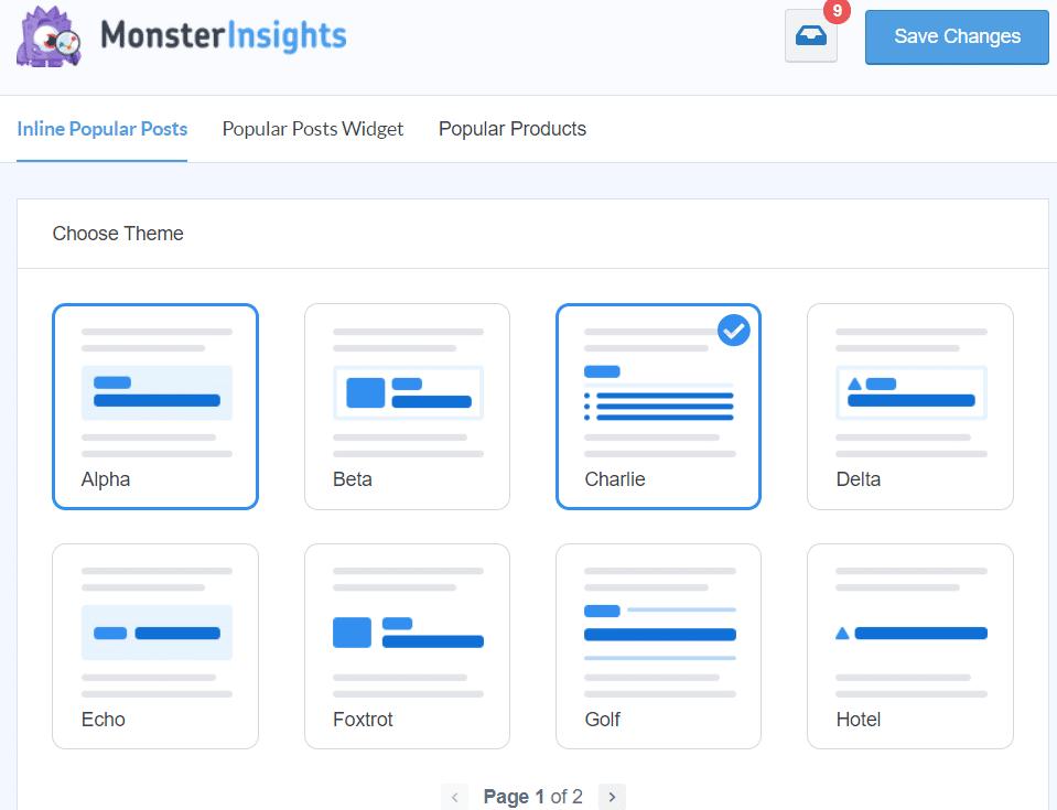 popular posts themes