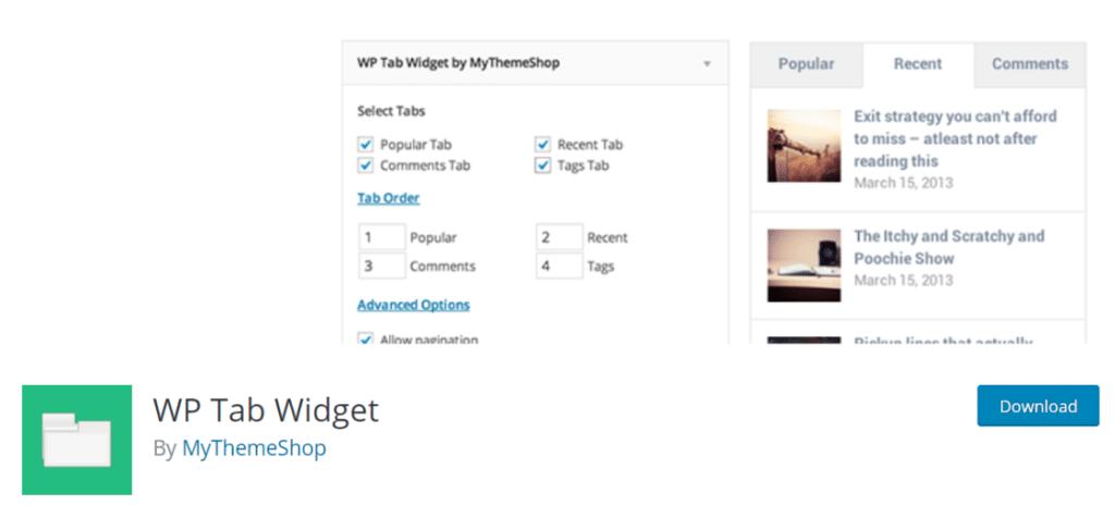 wp tab widget popular posts plugin
