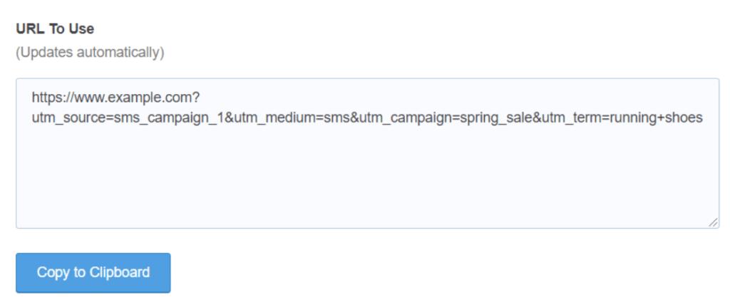 copy the custom url