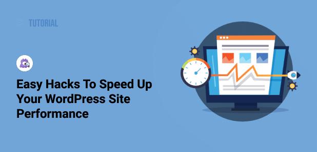 easy hacks to speed up wordpress website