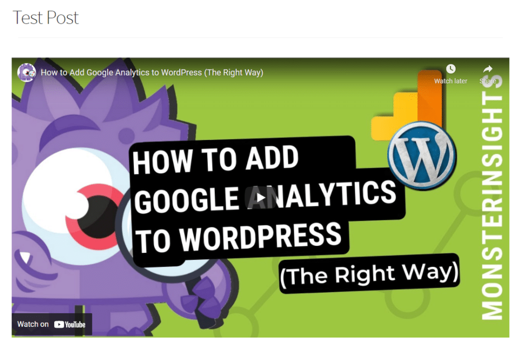 incorporar vídeo para acelerar o wordpress