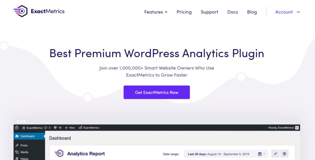 exactmetrics wordpress analytics plugin