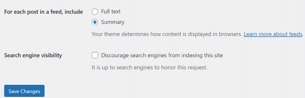 configurações de trechos no wordpress
