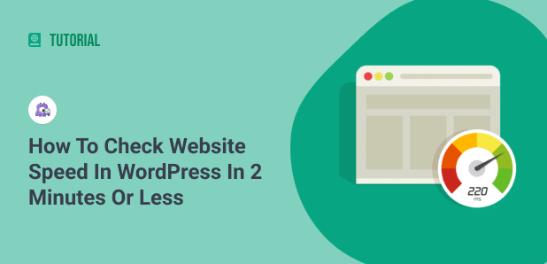 how to check website speed in wordpress