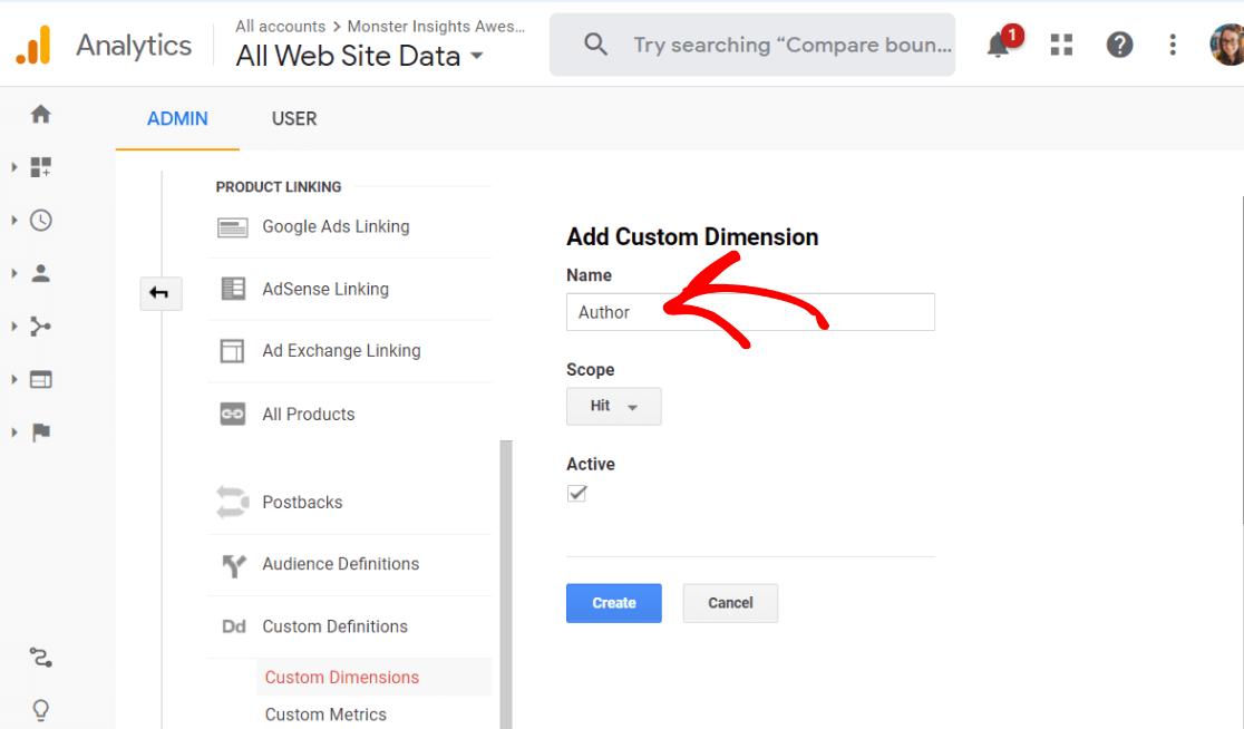 Ajouter une nouvelle dimension personnalisée sur Google Analytics