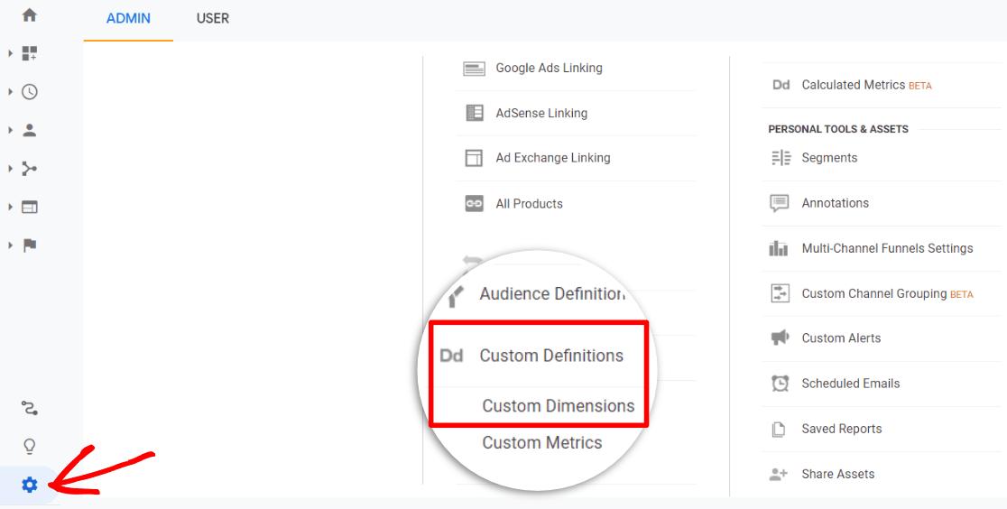 Dimensions personnalisées dans Google Analytics