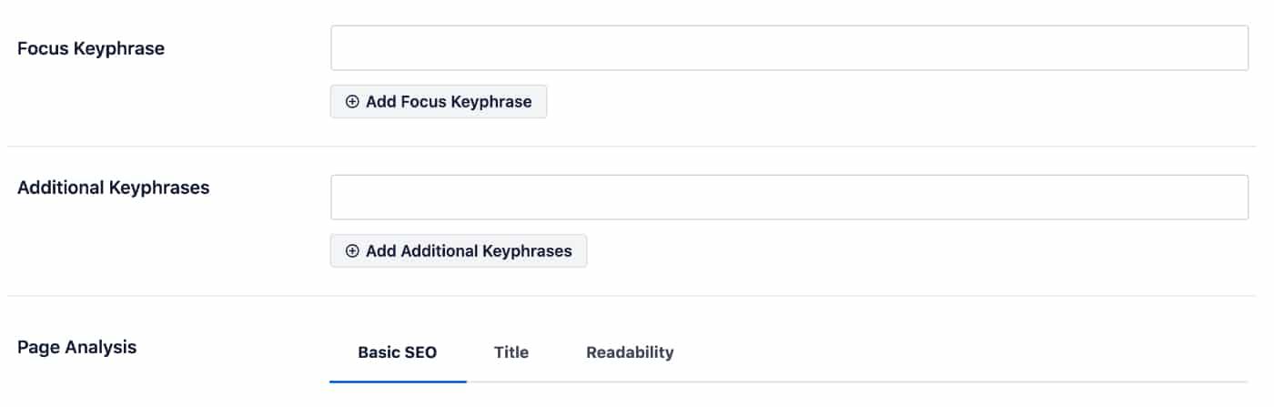 Focus Keyphrase in AIOSEO