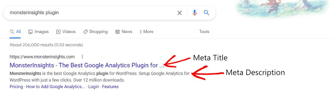 Title and Meta Description Example