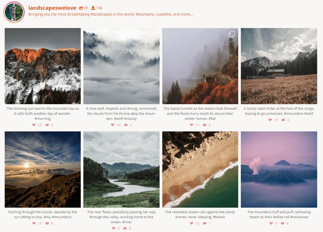 Exemple de plugin de flux Instagram